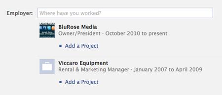 Edit Facebook Work Info