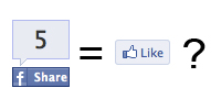 Facebook Share = Like