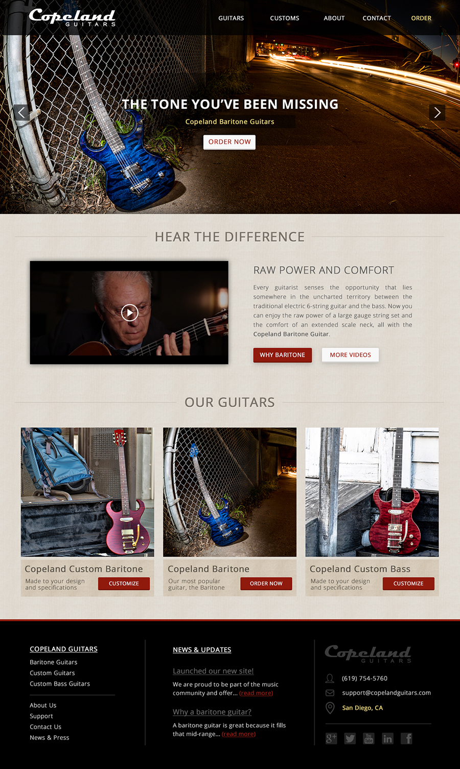 Copeland Guitars Homepage