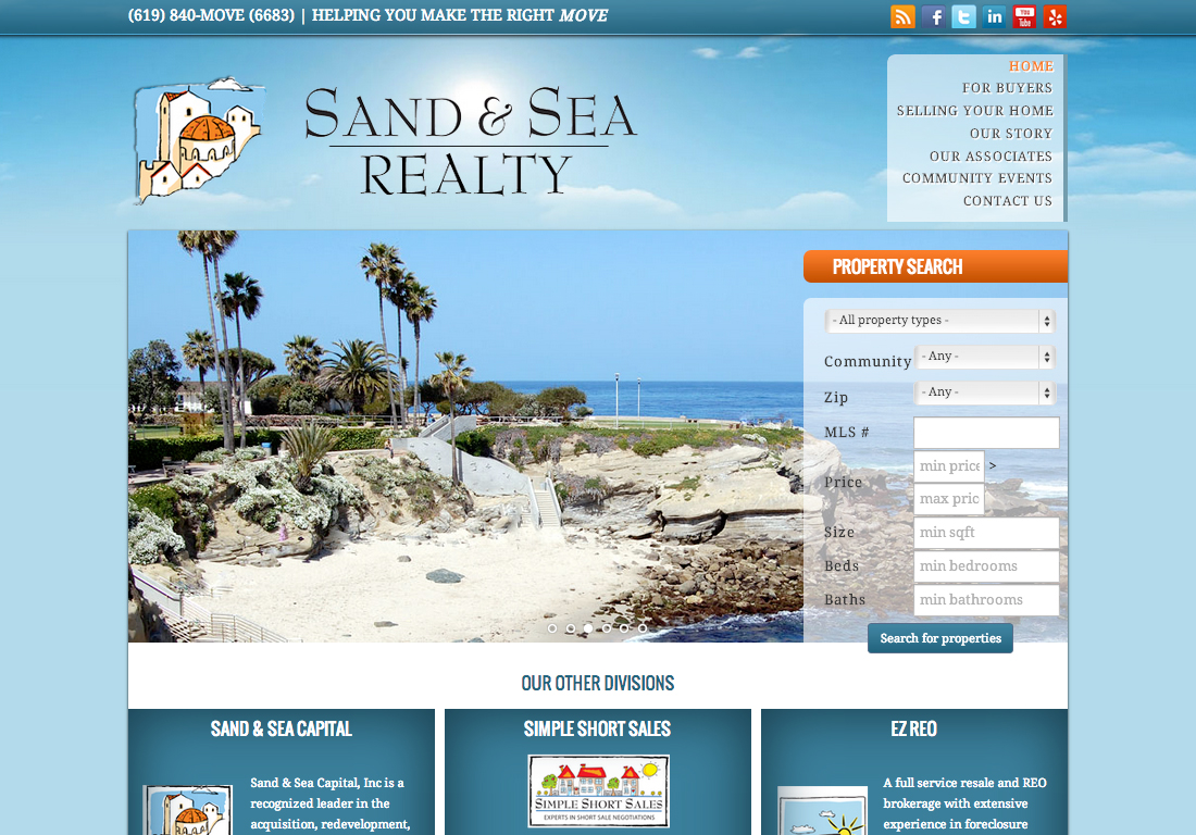 Sand and Sea Homepage