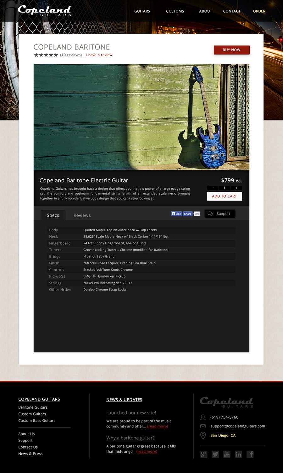 Copeland Guitars Single Product
