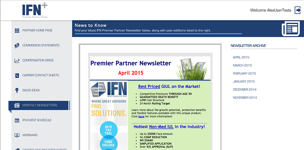 Partner Newsletters